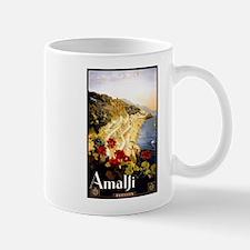 Antique Italy Amalfi Coast Travel Poster Mug