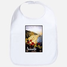 Antique Italy Amalfi Coast Travel Poster Bib