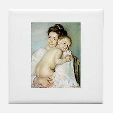 Mary Cassatt's The Young Moth Tile Coaster