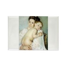 Mary Cassatt's The Young Moth Rectangle Magnet (10