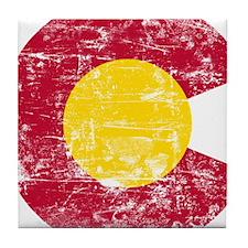 Aged Colorado C Tile Coaster