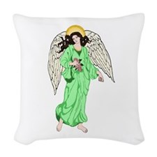 Angel Blue Woven Throw Pillow
