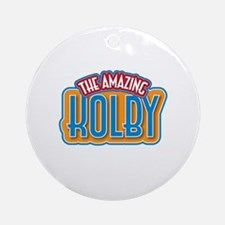 The Amazing Kolby Ornament (Round)