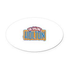 The Amazing Kolton Oval Car Magnet