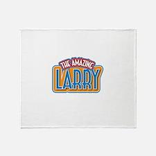 The Amazing Larry Throw Blanket