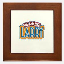 The Amazing Larry Framed Tile