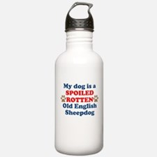 Spoiled Rotten Old English Sheepdog Water Bottle