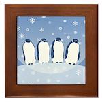 Penguin Quartet Framed Tile