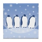 Penguin Quartet Tile Coaster