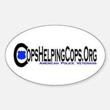 Cops Helping Cops Oval Decal