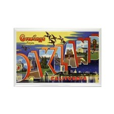 Oakland California Greetings Rectangle Magnet (10