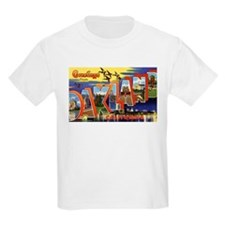Oakland California Greetings (Front) Kids T-Shirt