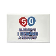 50 years birthday gifts Rectangle Magnet