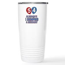 54 years birthday gifts Travel Mug