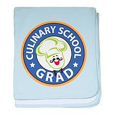 Culinary School Grad baby blanket