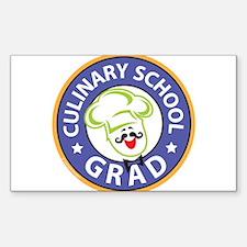 Culinary School Grad Sticker (Rectangle)