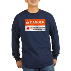 DANGER Long Sleeve Navy T-Shirt