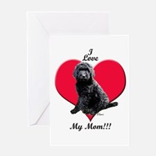 I Love My Mom!!! Black Goldendoodle Greeting Card