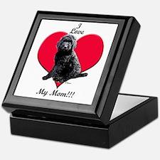 I Love My Mom!!! Black Goldendoodle Keepsake Box