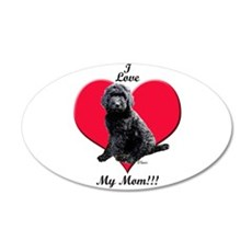 I Love My Mom!!! Black Goldendoodle Wall Decal