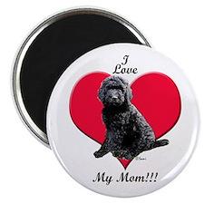 I Love My Mom!!! Black Goldendoodle Magnet