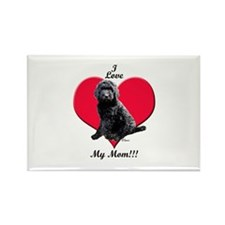 I Love My Mom!!! Black Goldendoodle Rectangle Magn