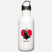 I Love My Mom!!! Black Goldendoodle Water Bottle