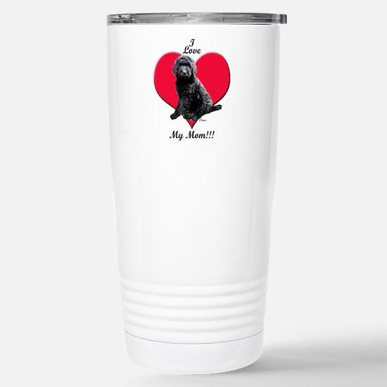 I Love My Mom!!! Black Goldendoodle Travel Mug