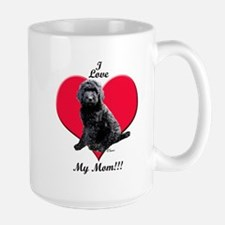I Love My Mom!!! Black Goldendoodle Mug