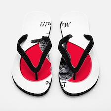 I Love My Mom!!! Black Goldendoodle Flip Flops