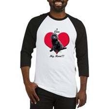 I Love My Mom!!! Black Goldendoodle Baseball Jerse