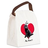 Black goldendoodle Canvas Lunch Bag