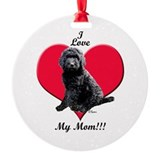 Black goldendoodle Round Ornament