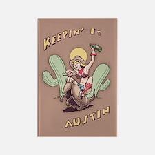 Keepin' It Austin Rectangle Magnet