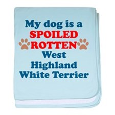 Spoiled Rotten West Highland White Terrier baby bl