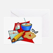 Baking Christmas Cookies Greeting Cards (Package o