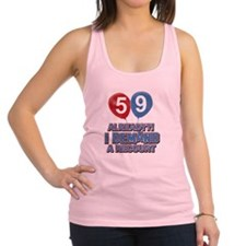 59 years birthday gifts Racerback Tank Top