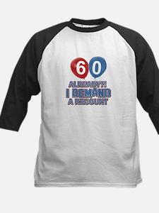 60 years birthday gifts Kids Baseball Jersey