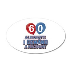 60 years birthday gifts Wall Decal