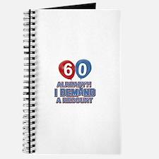60 years birthday gifts Journal
