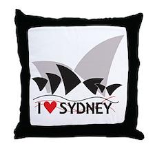 I Heart Sydney II Throw Pillow