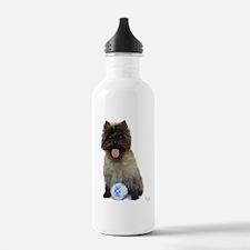 Cairn Terrier Football Water Bottle