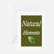 Natural Elements Logo  Greeting Cards (Package of
