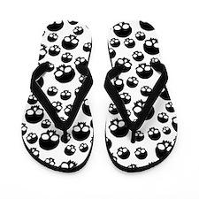 Random Skull Pattern Flip Flops