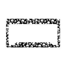 Random Skull Pattern License Plate Holder