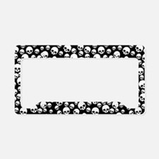 Random Skull Pattern License Plate Holder