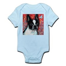 Portrait of smiling Boston Terrier Body Suit