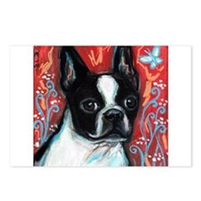 Portrait of smiling Boston Terrier Postcards (Pack