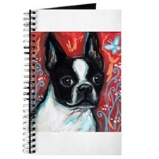 Portrait of smiling Boston Terrier Journal
