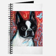 Portrait of smiling Boston Terrier Journal
